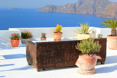 View of Oia town Stock Photography