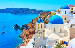 Oia town in Santorini Stock Images