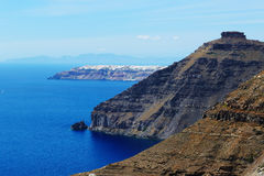 The view on Oia town Royalty Free Stock Photography