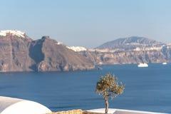 Oia village - Aegean sea - Santorini island - Greece. View of Oia village - Aegean sea - Santorini island - Greece stock photography