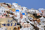 View of Oia Village of Santorini Archipelago Stock Images