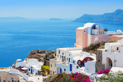 View of Oia village. Santorini, Greece Royalty Free Stock Photography