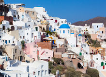 View on Oia village, Santorini Island. Stock Image