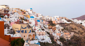 View on Oia village, Santorini Island. Royalty Free Stock Photo