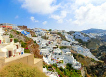 View of Oia village  Santorini island in Greece Stock Image