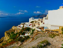 View of Oia village in Santorini island. Greece Stock Images