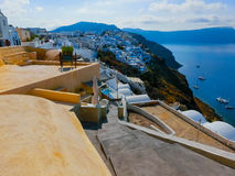 View of Oia village in Santorini island. Greece Stock Photo