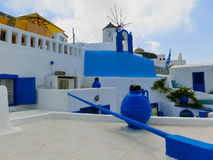 View of Oia village at Santorini island in Greece Royalty Free Stock Images