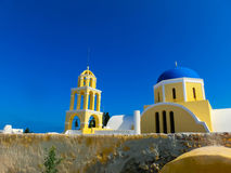 View of Oia village in Santorini island. Greece Stock Photography
