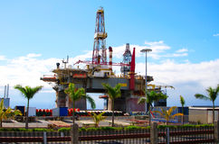 View of  Oil platform. Royalty Free Stock Photography
