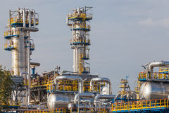 View of an oil refinery Stock Photos