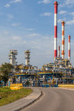 View of an oil refinery Royalty Free Stock Photos