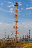 View of an oil refinery Royalty Free Stock Photography