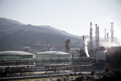 View of an Oil Refinery Plant Royalty Free Stock Image