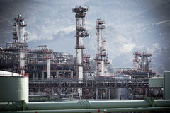 View of an Oil Refinery Plant. Stock Image