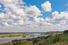 View of Oka river near Konstantinovo village. Central Russia Stock Photos
