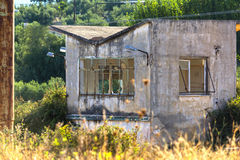 Abandoned outpost in an industrial establishment Royalty Free Stock Images