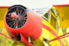 View on old airplane without propeller Royalty Free Stock Photo