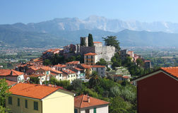 View of the old Ameglia town Royalty Free Stock Images