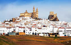 View of  old andalusian town.  Olvera Royalty Free Stock Image