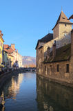 View on old Annecy canals Stock Photography