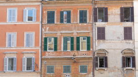 View of old apartments, rome, italy, 4k stock footage