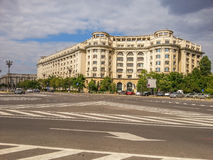 View of old arhitecture facade from Constitutiei square, Bucharest Stock Images