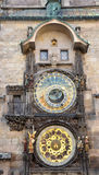 View of the old astronomical clock, Prague, Czech Republic, Europe Royalty Free Stock Image