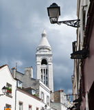 View on old belfry near Montmartre, Paris Stock Photography