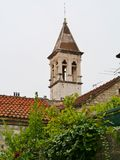 View on old bell tower in the Croatian city Trogir Royalty Free Stock Image