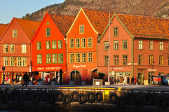 View of old Bergen. Royalty Free Stock Images