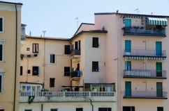 View of old biding in  Livorno Stock Image