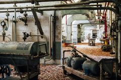 Black Powder Cart - Mixer House - Abandoned Indiana Army Ammunition Depot - Indiana Stock Photos
