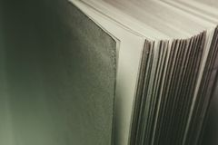 View of old book pages. Education and wisdom concept. Stock Photos