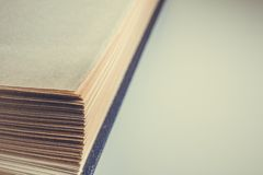 View of old book pages. Education and wisdom concept. Stock Image