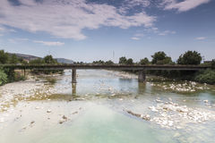 View of an Old bridge in Arta city, Epirus Greece. View of an Old bridge in Arta city, Epirus Greece Stock Photography