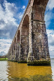 View of the old bridge in Berwick-upon-Tweed Royalty Free Stock Images