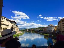 Florence Italy. View from the old bridge Florence nature Royalty Free Stock Photos