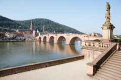 View of old bridge at Heidelberg, Germany royalty free stock photography