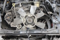 View of old broken car engine Royalty Free Stock Images