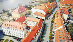 View of old buidings in the city of Wroclaw in Poland Royalty Free Stock Image