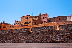 View of an old  building in Chania. View of an old  building in the greek town of Chania Crete Royalty Free Stock Photos