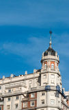 View of an old building in Madrid, Spain. Antique building in Madrid Stock Photography
