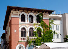 View on old building on the street Obala marsala Tita, Porec, Cr Stock Photography