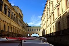 View of old buildings along the canal Royalty Free Stock Photo
