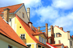 View of old buildings in Riga, Latvia Royalty Free Stock Images