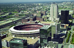 View of Old Busch Stadium, St. Louis, MO Royalty Free Stock Photography