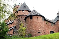 View of the old castle in Alsace stock photo