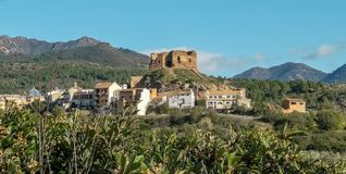 View of the old castle of Castellnovo royalty free stock photos