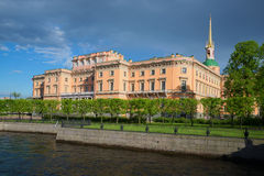 View of the old castle from the embankment of the Moika river. Saint Petersburg, Russia Stock Photography